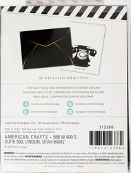 Black - Heidi Swapp A2 Envelopes 4/Pkg