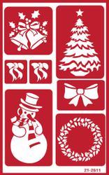 "Christmas - Over 'N' Over Reusable Stencils 5""X8"""