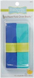 Dritz Babyville Boutique Fold Over Elastic -Solid Blue & Solid Turquoise at Sears.com
