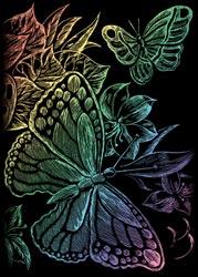 Поделиться с друзьями.  Цветная гравюра Mini (царапки) RAINMIN в асс, Royal langnickel.