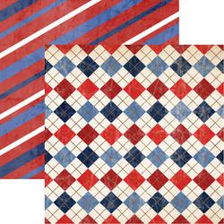 """Red; White & Blue - American Vintage Double-Sided Cardstock 12""""X12"""""""
