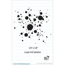 "Large Ink Splatter - Your Next Stamp Clear Stamps 4""X4"""