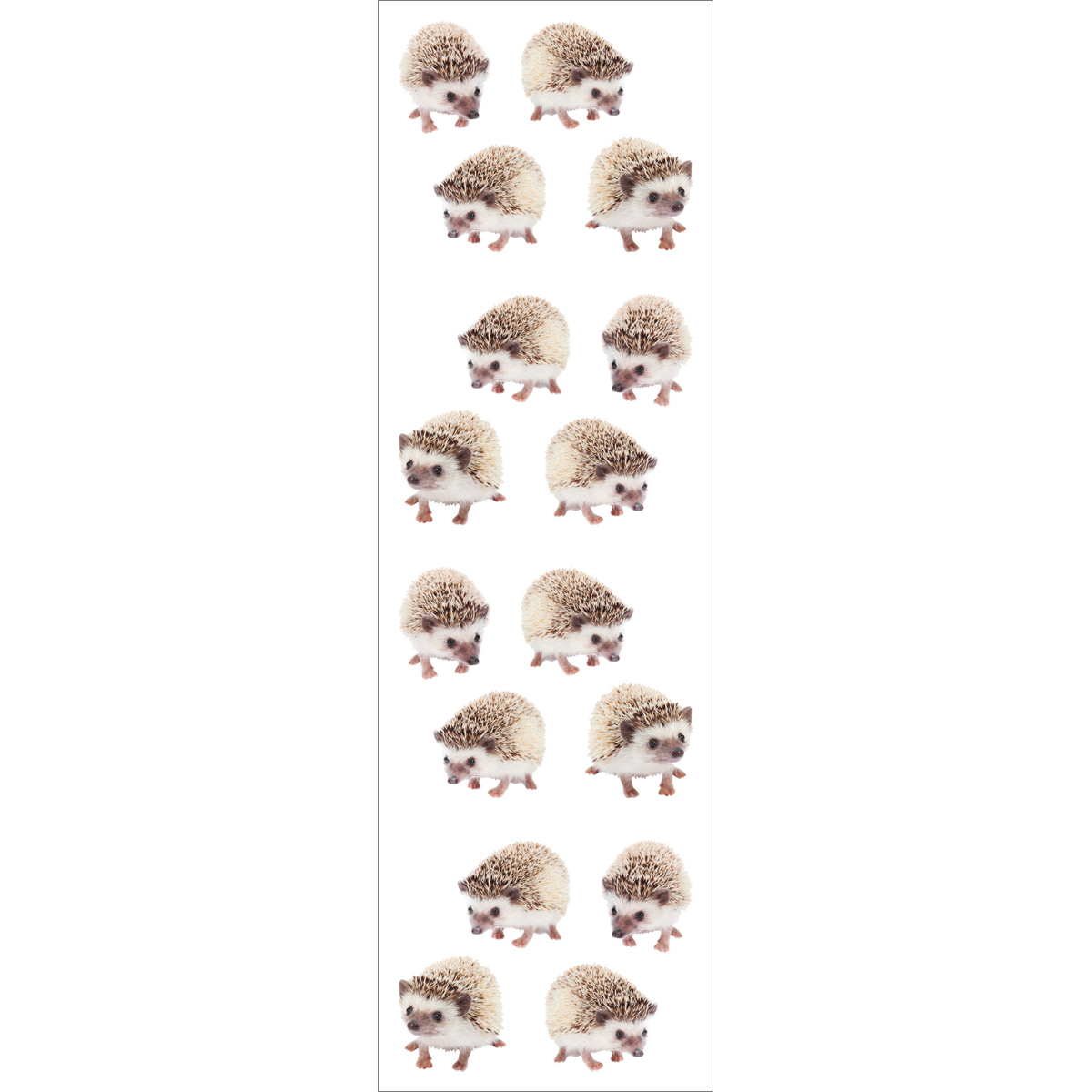 """Grossman/'s 3 sheets per pack 2/"""" x 6 1//2/"""" 58503 Hedgehogs Stickers by Mrs"""