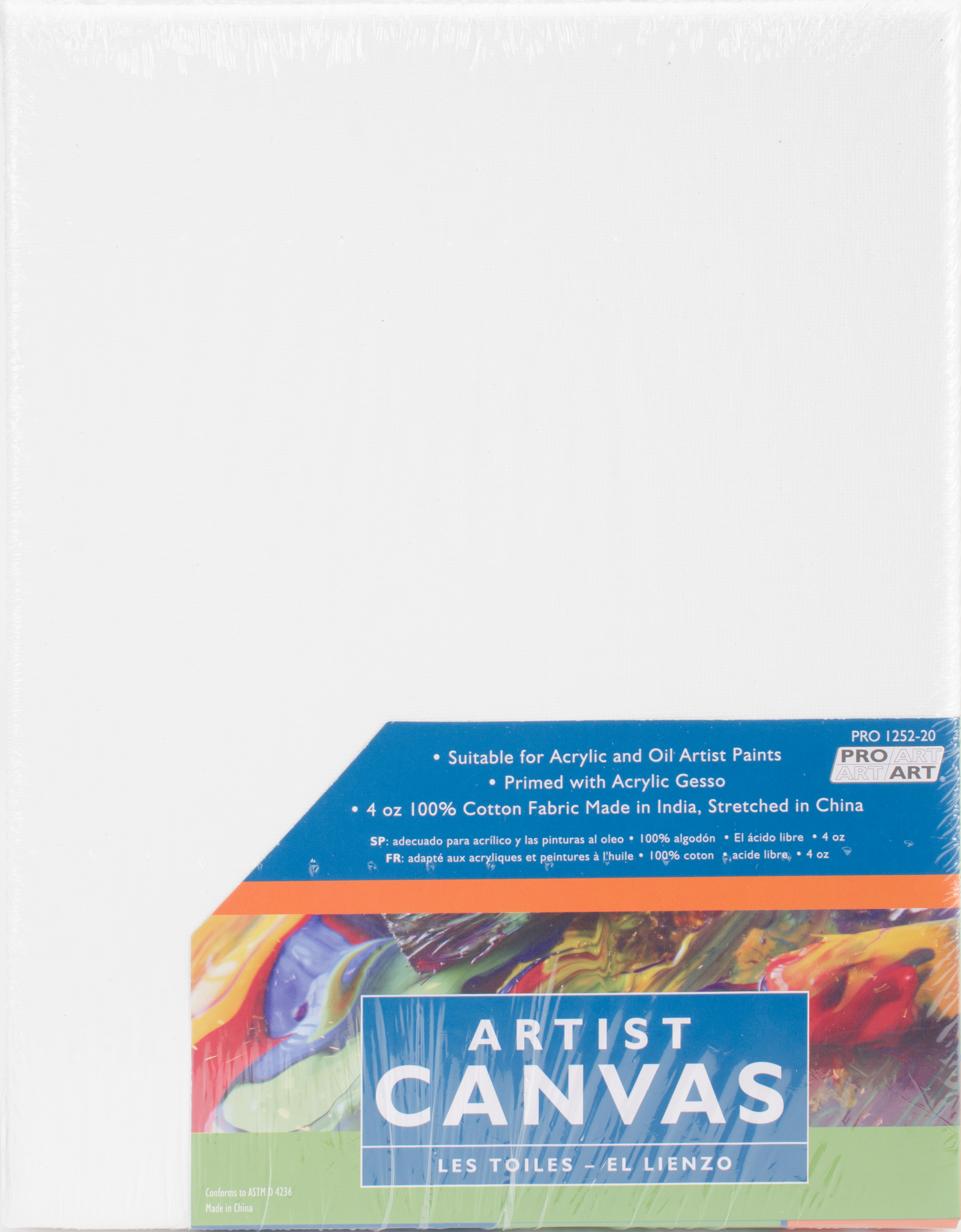 "Art Supplies Other Art Supplies Pro Art Stretched Artist Canvas Twin Pack 2/pkg-8""x10"""