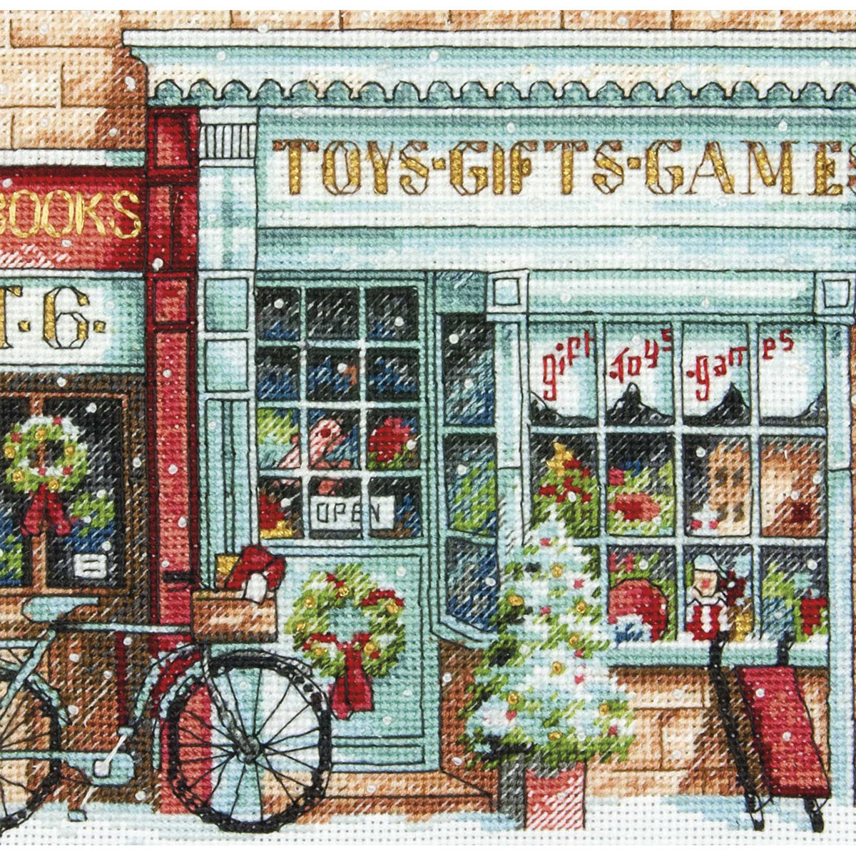 Dimensions-Gold-Petite-Counted-Cross-Stitch-Kit-6-034-X6-034-Toy-Shoppe-18-Count