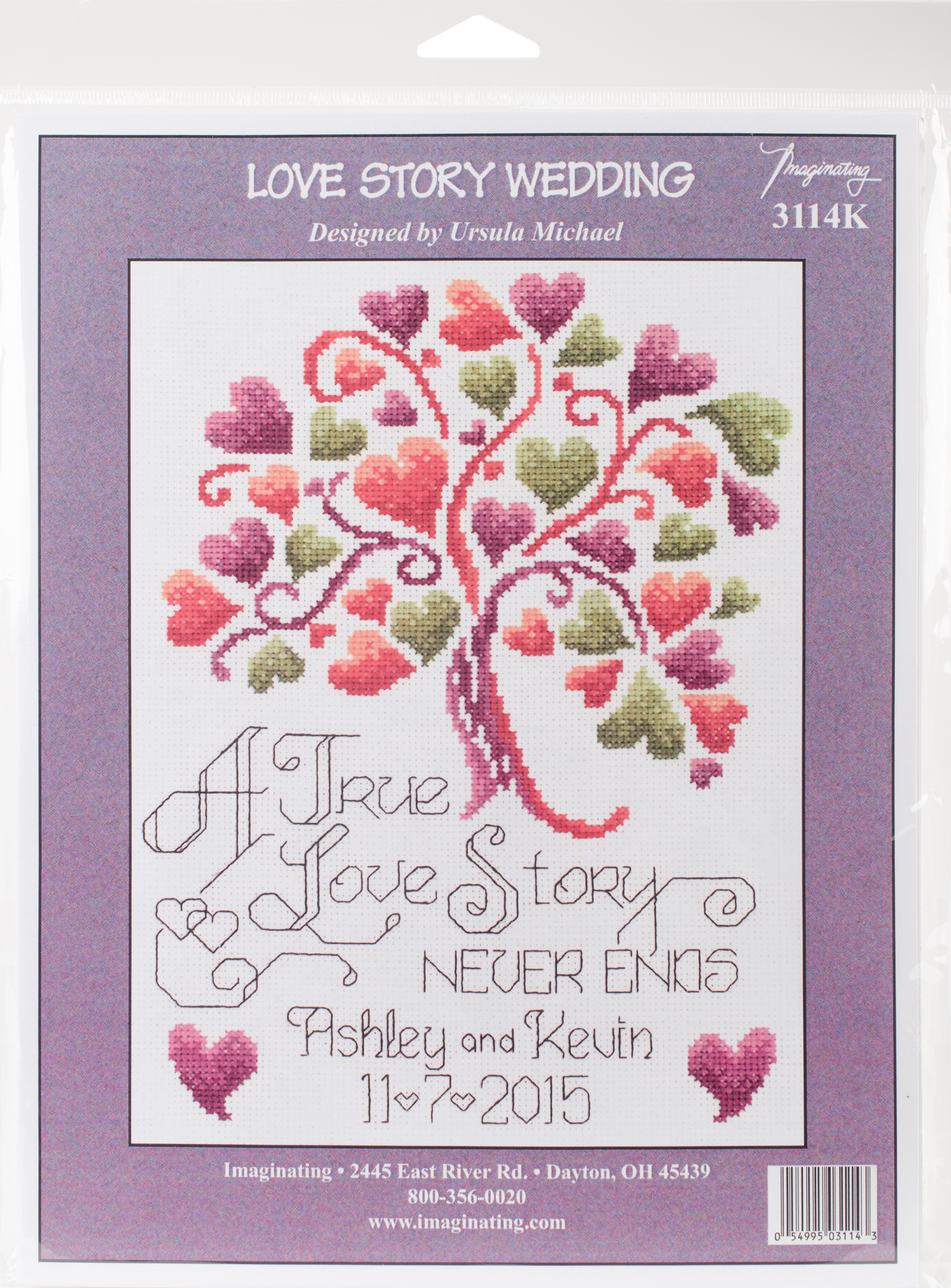 """Imaginating Counted Cross Stitch Kit 7.5""""X10""""-Love Story , I"""
