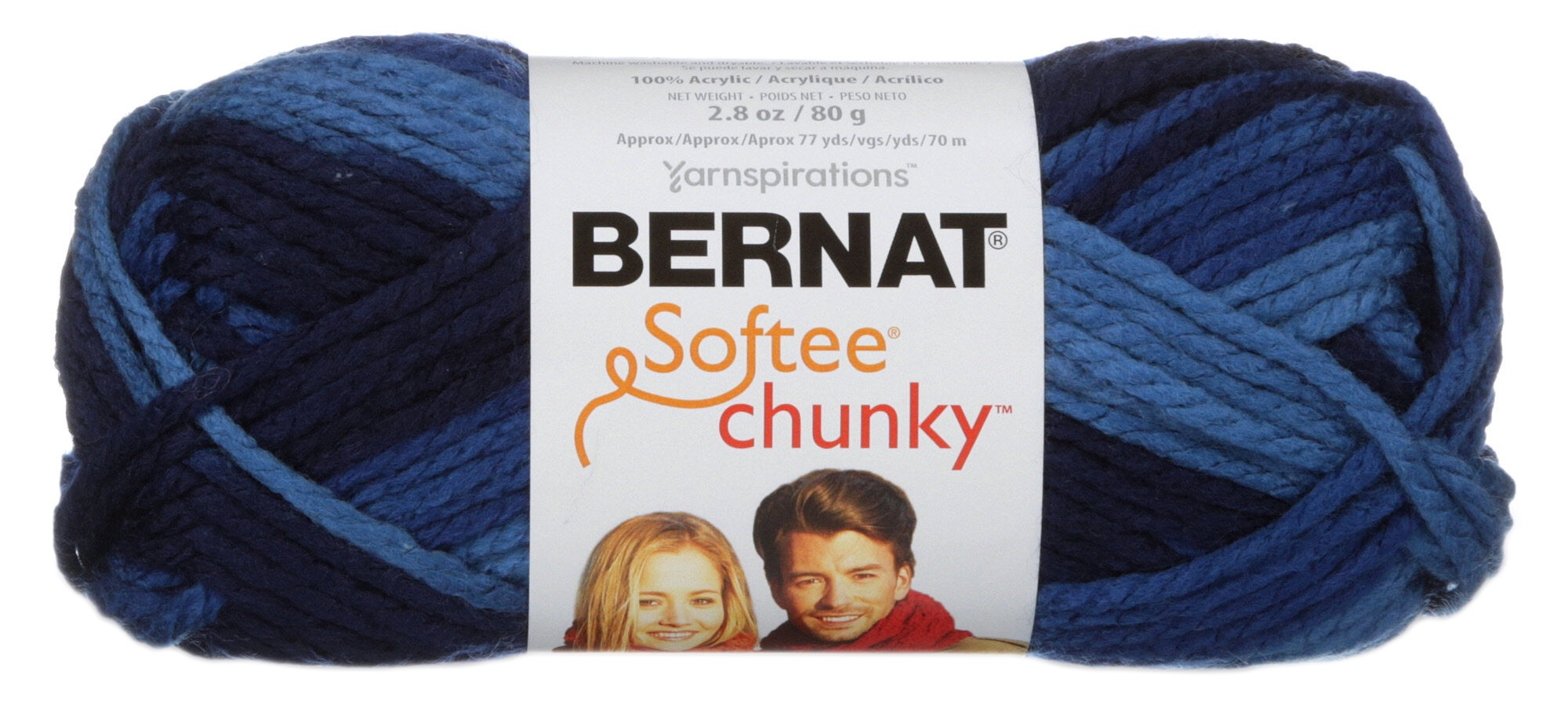Spinrite 161197-97006 Softee Baby Chunky Ombre Yarn-Jumpin/' Jill