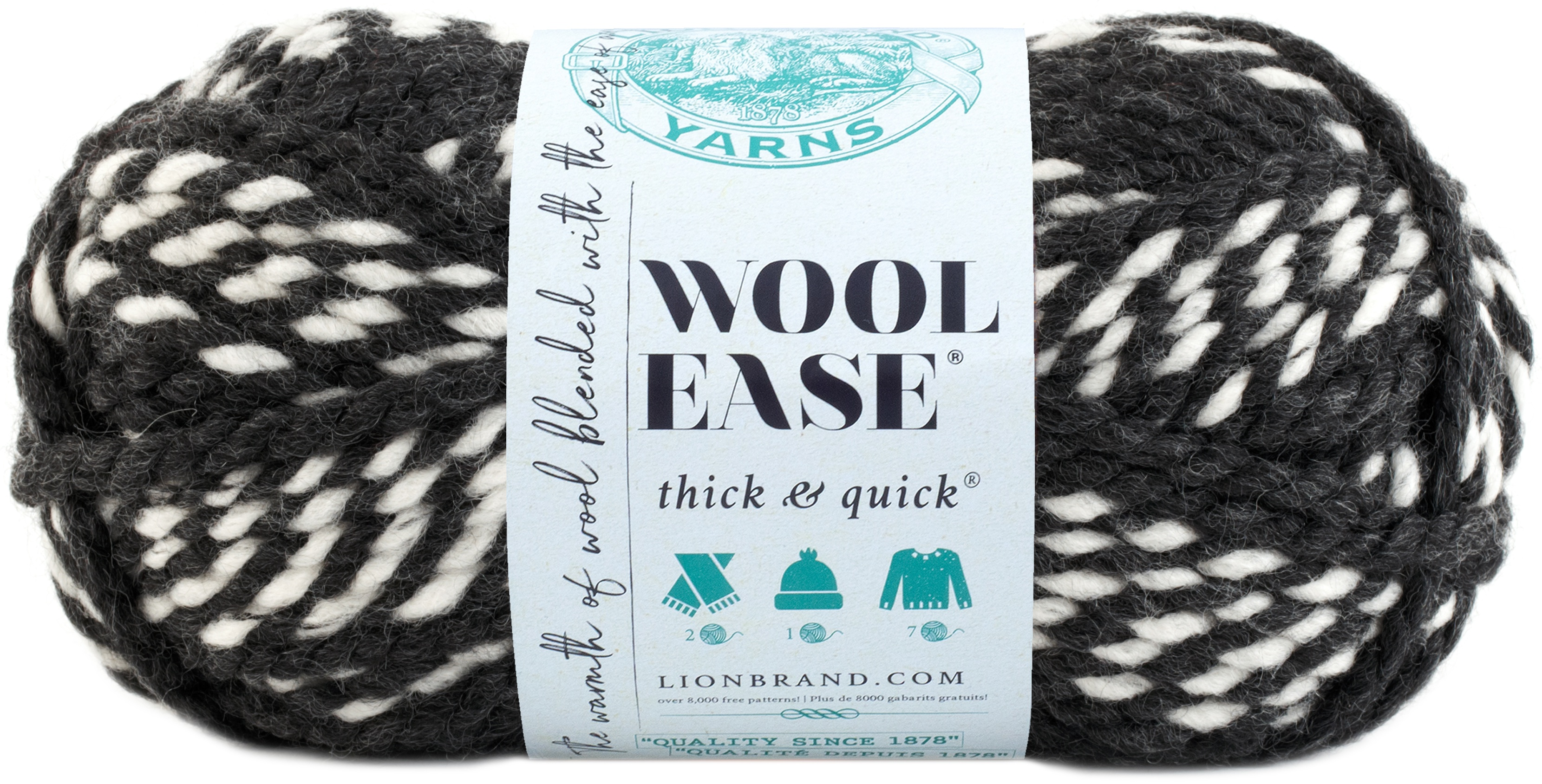 640-601 Lion Brand Wool-Ease Thick /& Quick Yarn-Hoyas Stripes