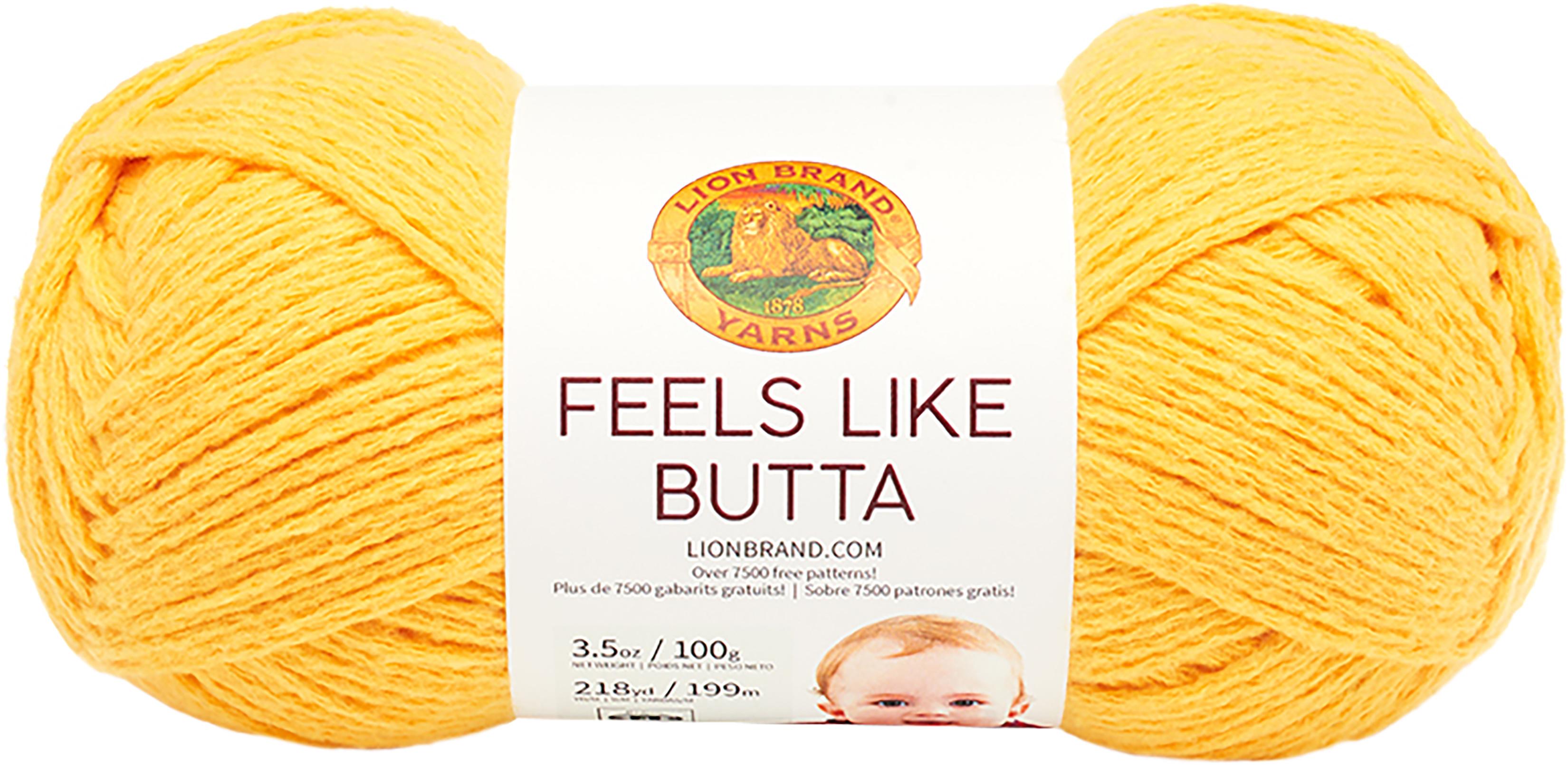 Lion-Brand-Feels-Like-Butta-Yarn-Yellow-Set-Of-3