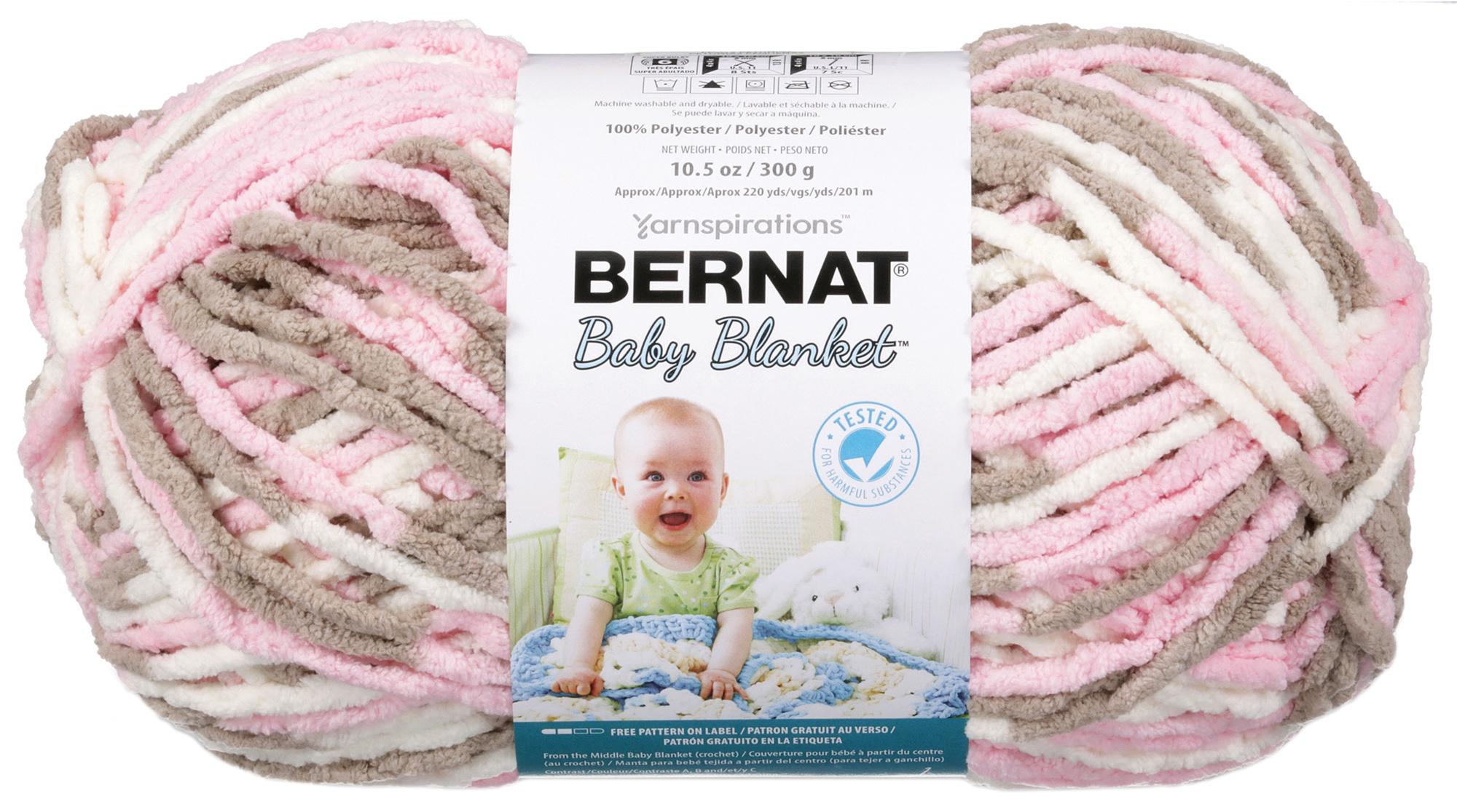 Bernat Baby Blanket Big Ball Yarn-Little Petunias