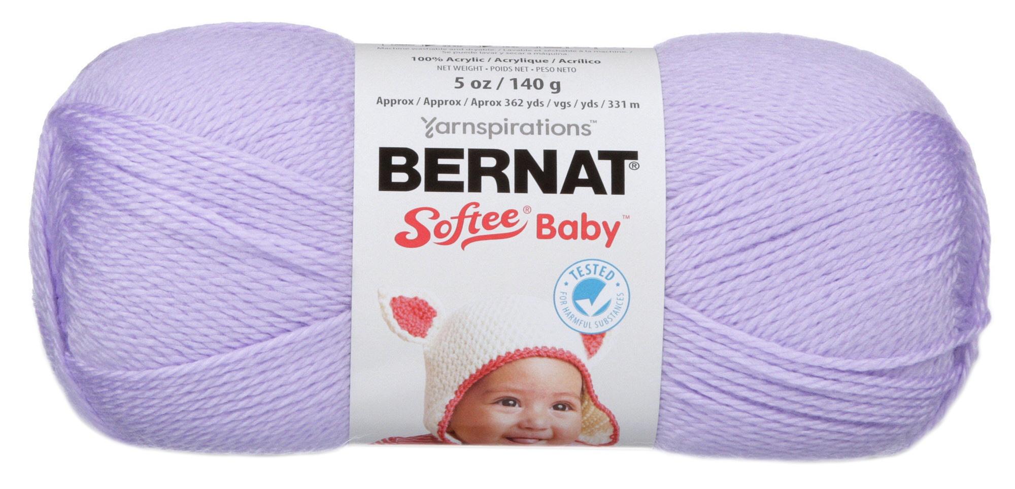 Solids-Soft Lilac 166030-30185 Bernat Softee Baby Yarn