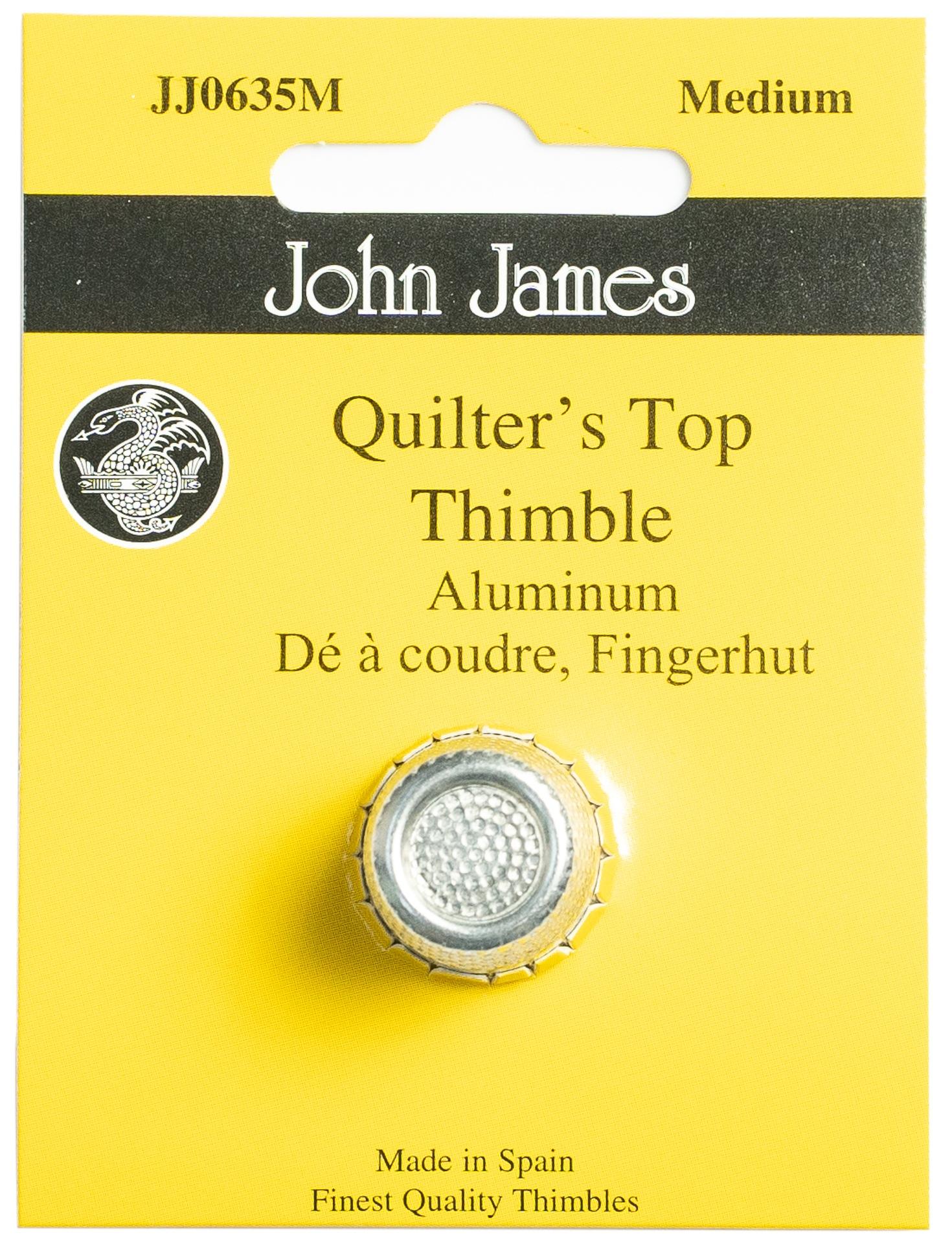 John-James-Nickel-Plated-Steel-Crimp-Top-Thimble-Medium-Size-7-JJ0635-M