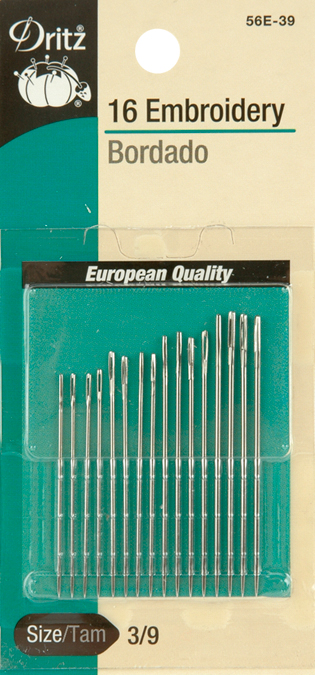 Dritz Embroidery Hand Needles 16//Pkg-Size 3//9 16//Pkg Set Of 6