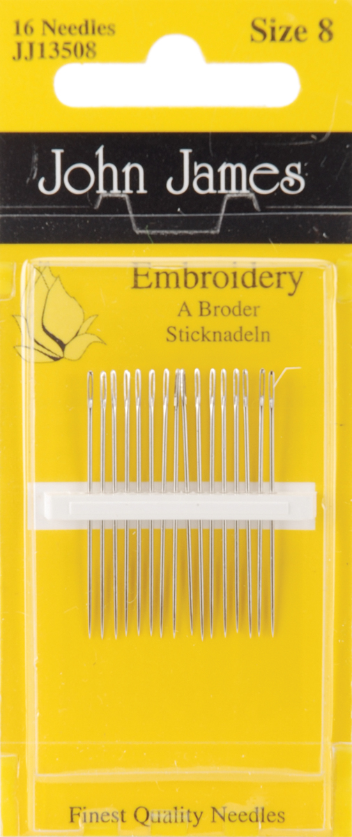 Colonial Needle John James Embroidery//Crewel Ball Point Assorted Needles Size 3//7