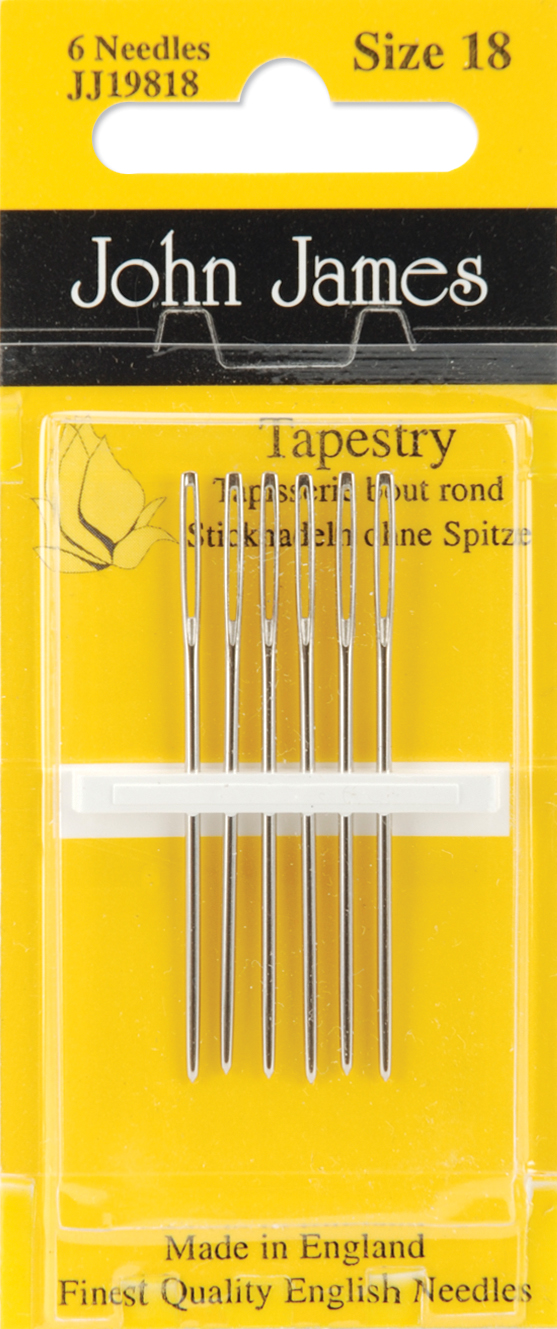 JJ198-18 John James Hand Needles-Size 18 6//Pkg