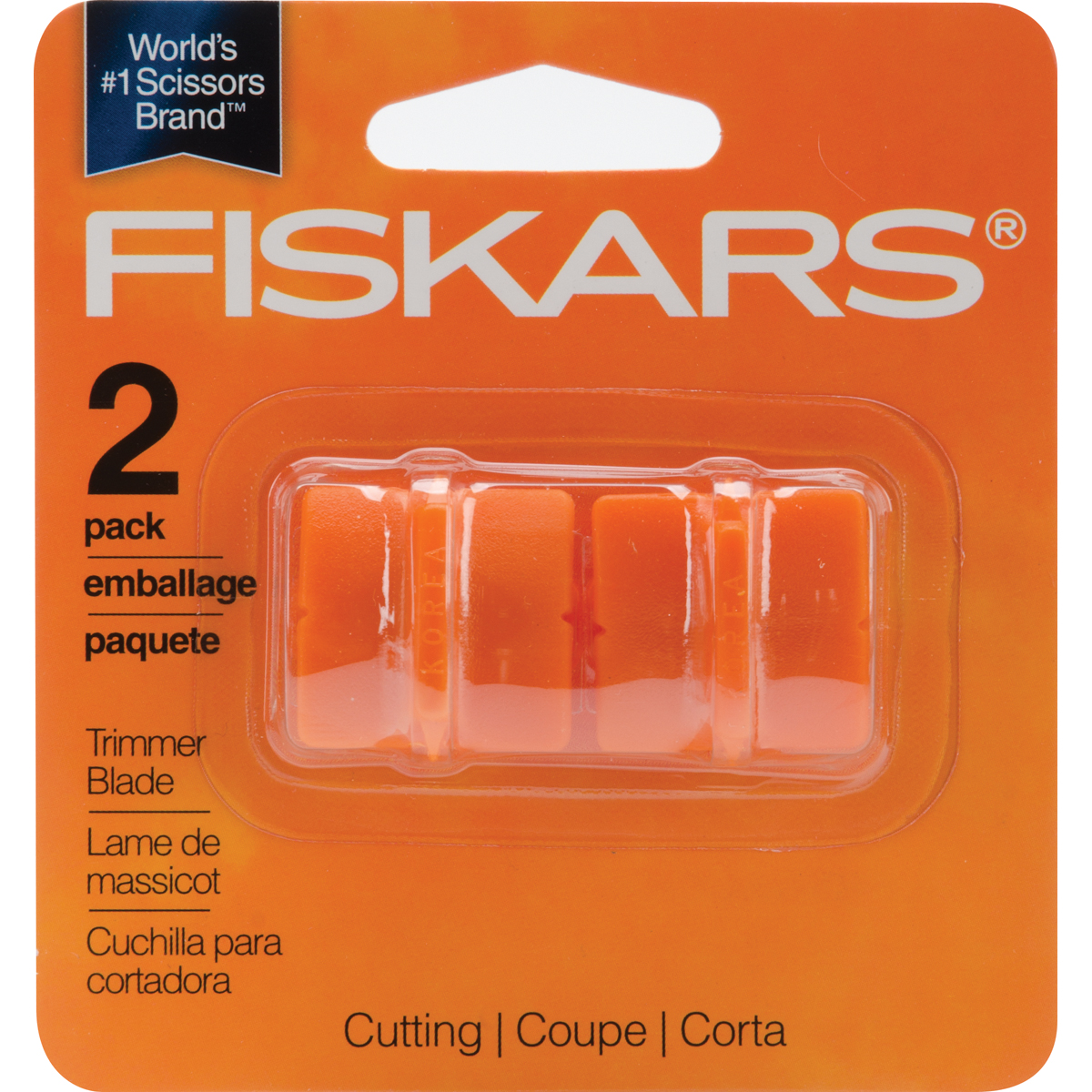 Fiskars Paper Trimmer Replacement Blades 2/Pkg-Straight, Sty