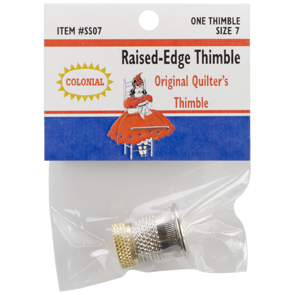SST-7 Colonial Raised-Edge Thimble-Size 7