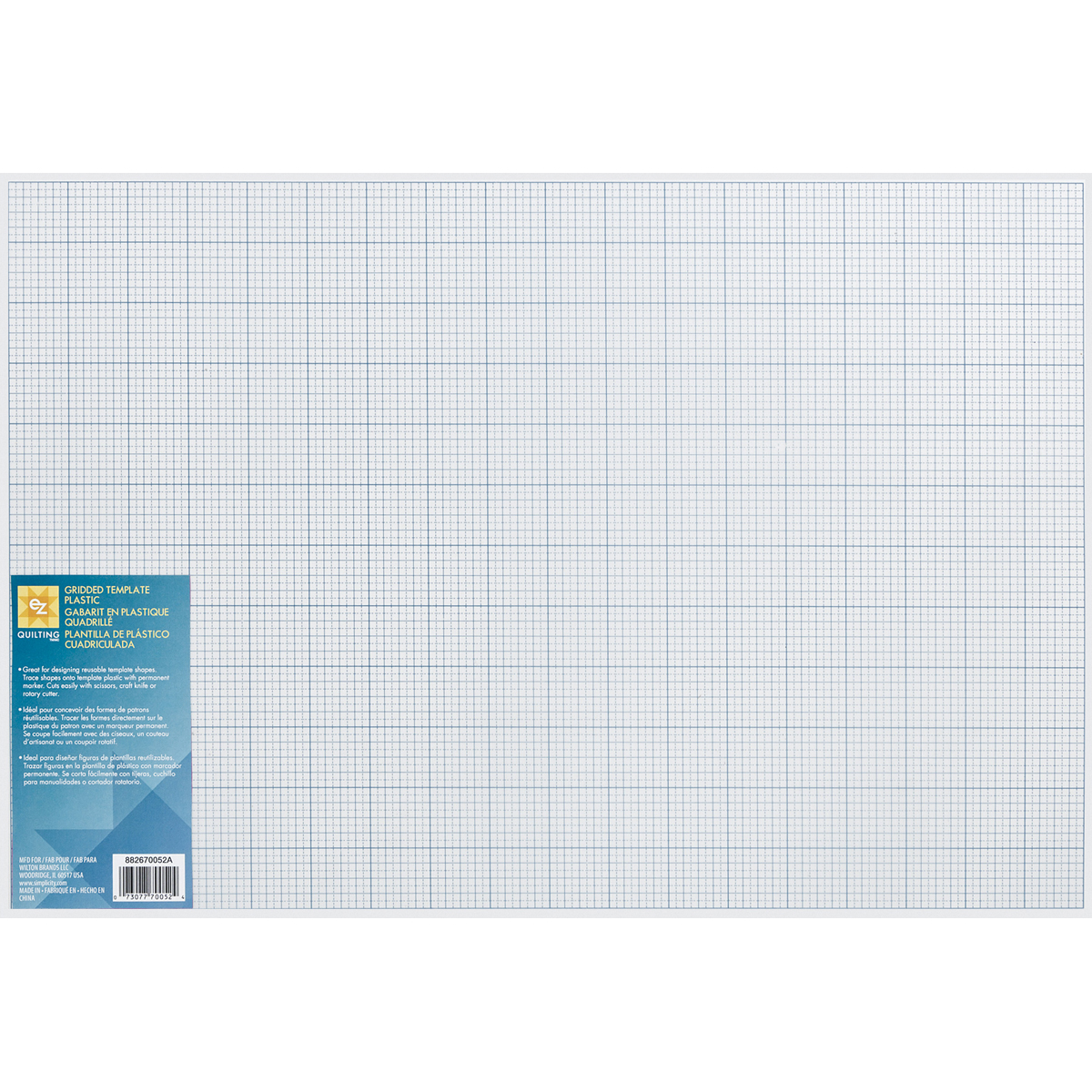 """/""""Gridded Plastic Template-12/""""/""""X18/""""/"""" Set Of 5/"""""""