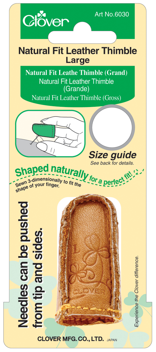 Natural Fit Leather Thimble-Large