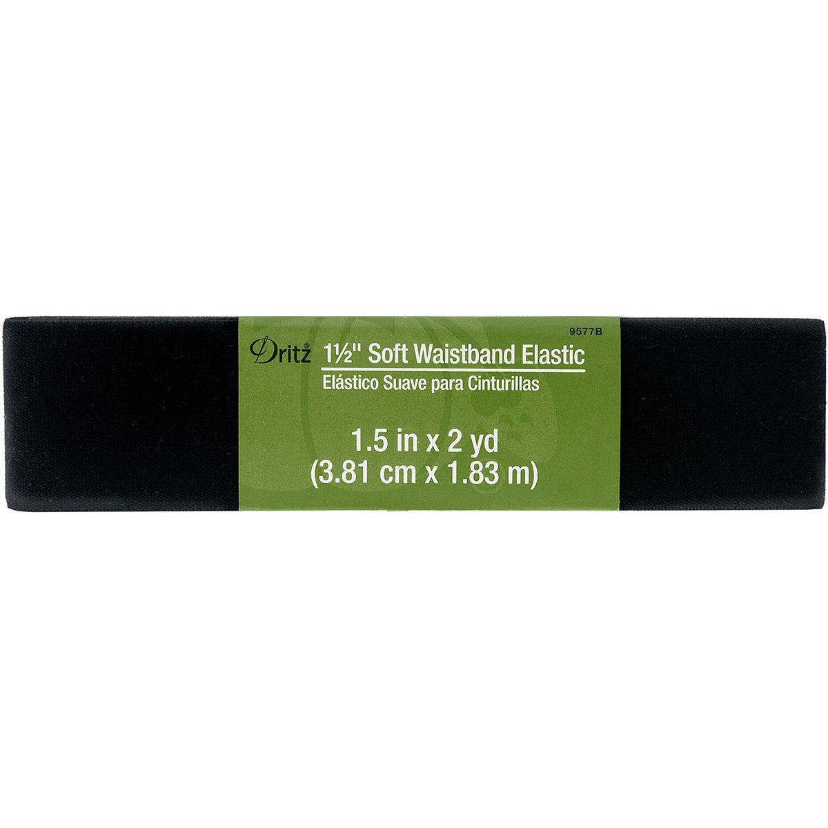 Dritz-Souple-Ceinture-Elastique-Tisse-3-8cmX2yd-Black-Ensemble-de-6