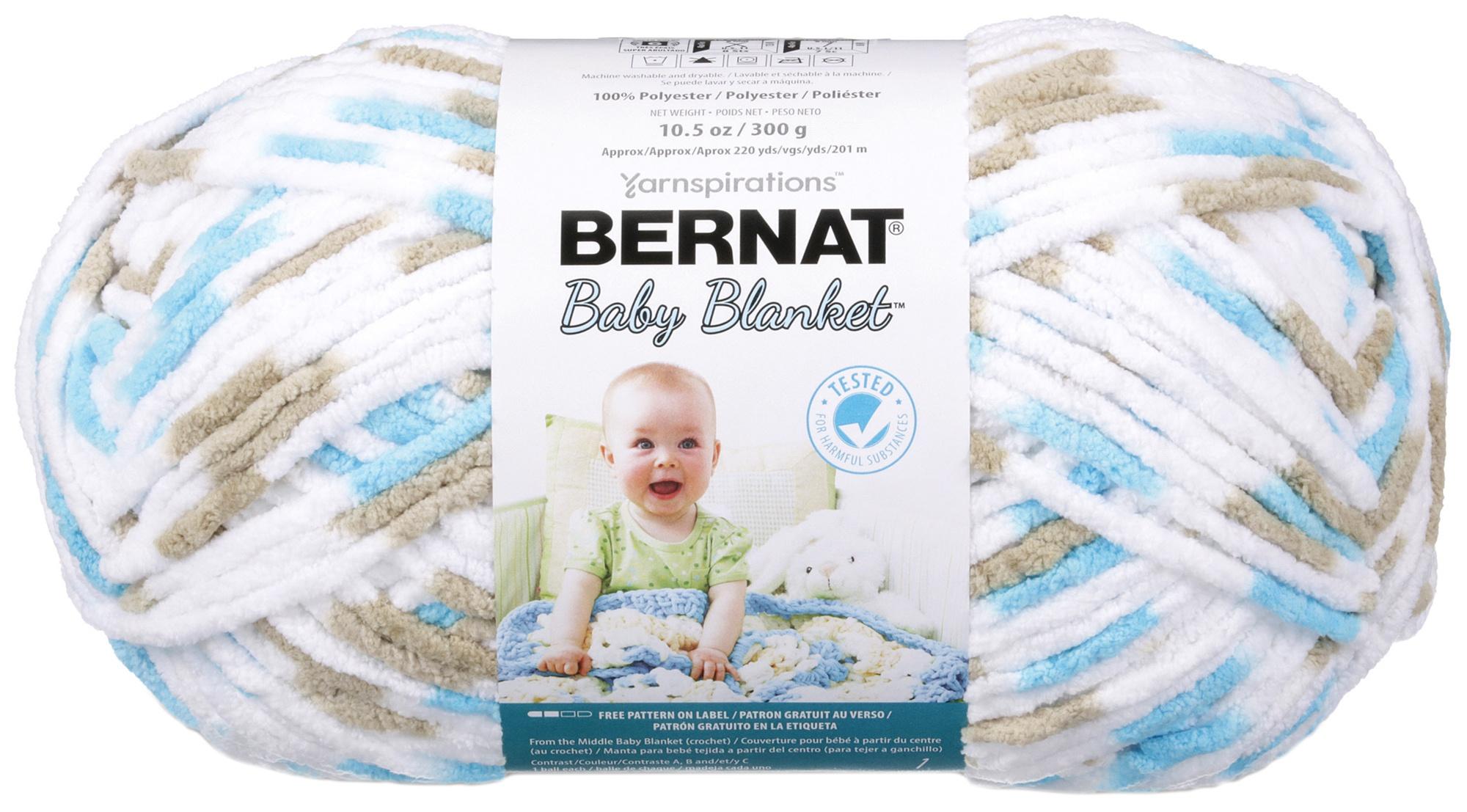 Bernat Baby Blanket Big Ball Yarn Little Teal Dove Ebay