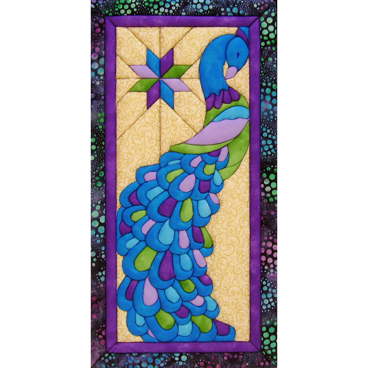 "Peacock Quilt Magic Kit-9.5""x19"", Pk 1, Quilt Magic"