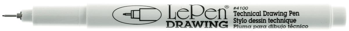 U4100S-0.3 Le Pen Technical Drawing Open Stock-.3mm Black