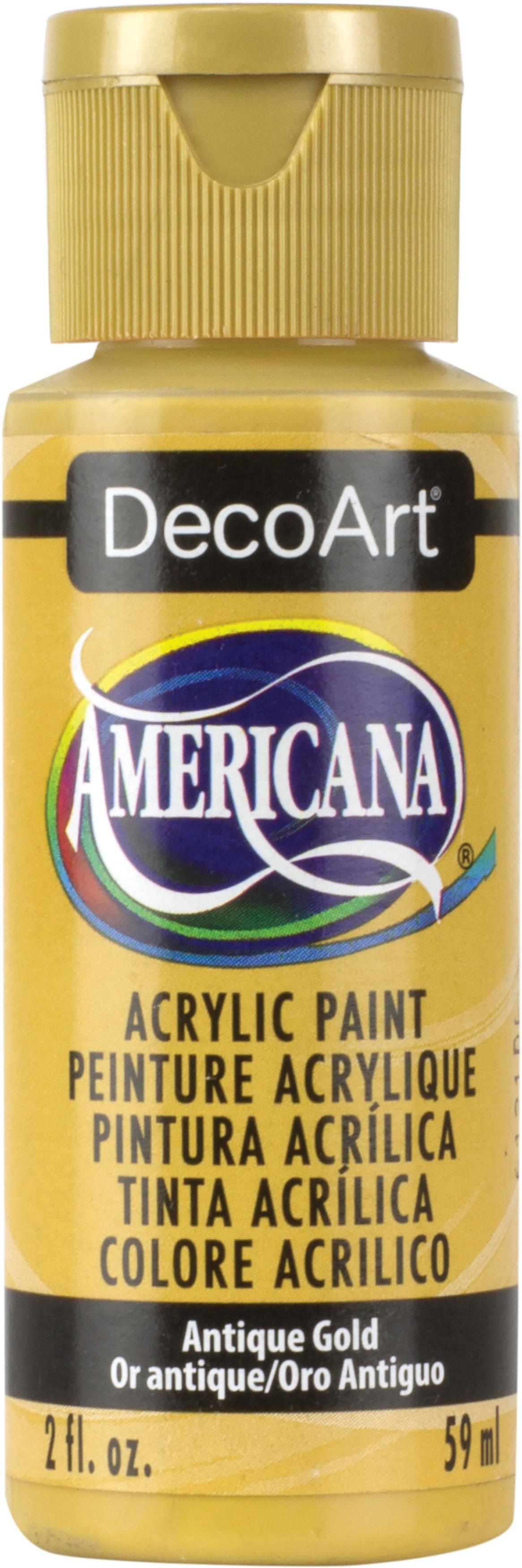 DecoArt Americana Acrylic Paint, 2-Ounce, Antique Gold