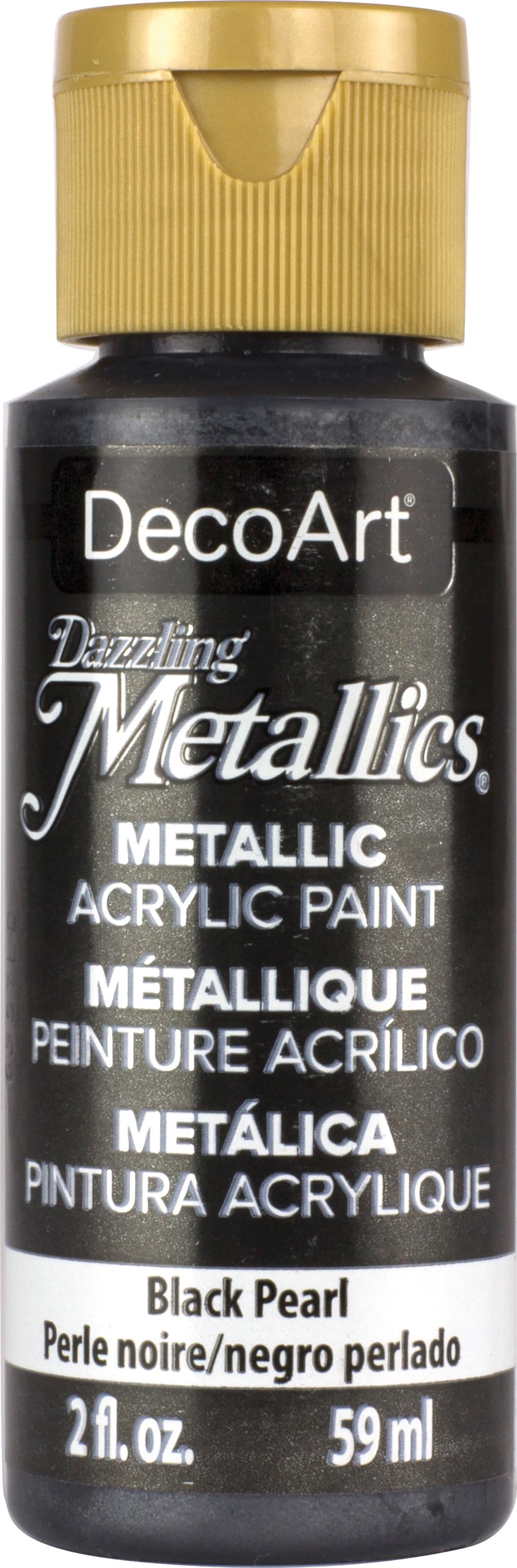 DecoArt-Dazzling-Metallics-2-Ounce-Black-Pearl-Acrylic-Paint