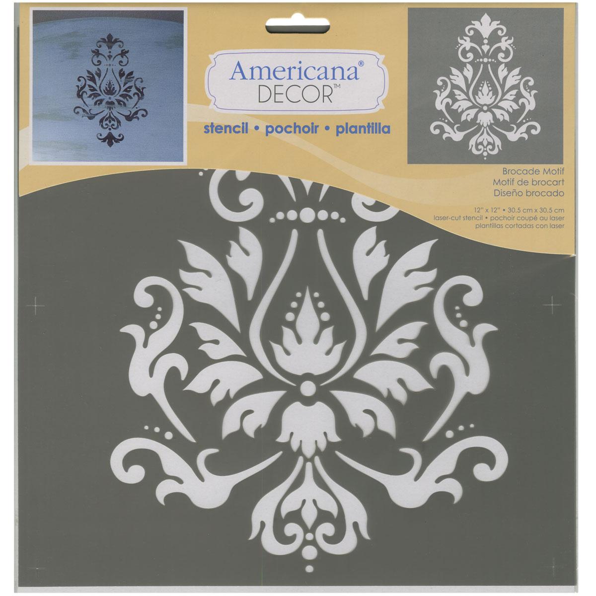 """Rapture Americana Decor Stencil 12""""x12""""-brocade Motif Be Shrewd In Money Matters Other Art Supplies Art Supplies"""