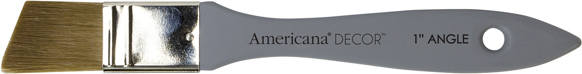 Deco Art Americana Decor Angle Flat Brush 1-Inch