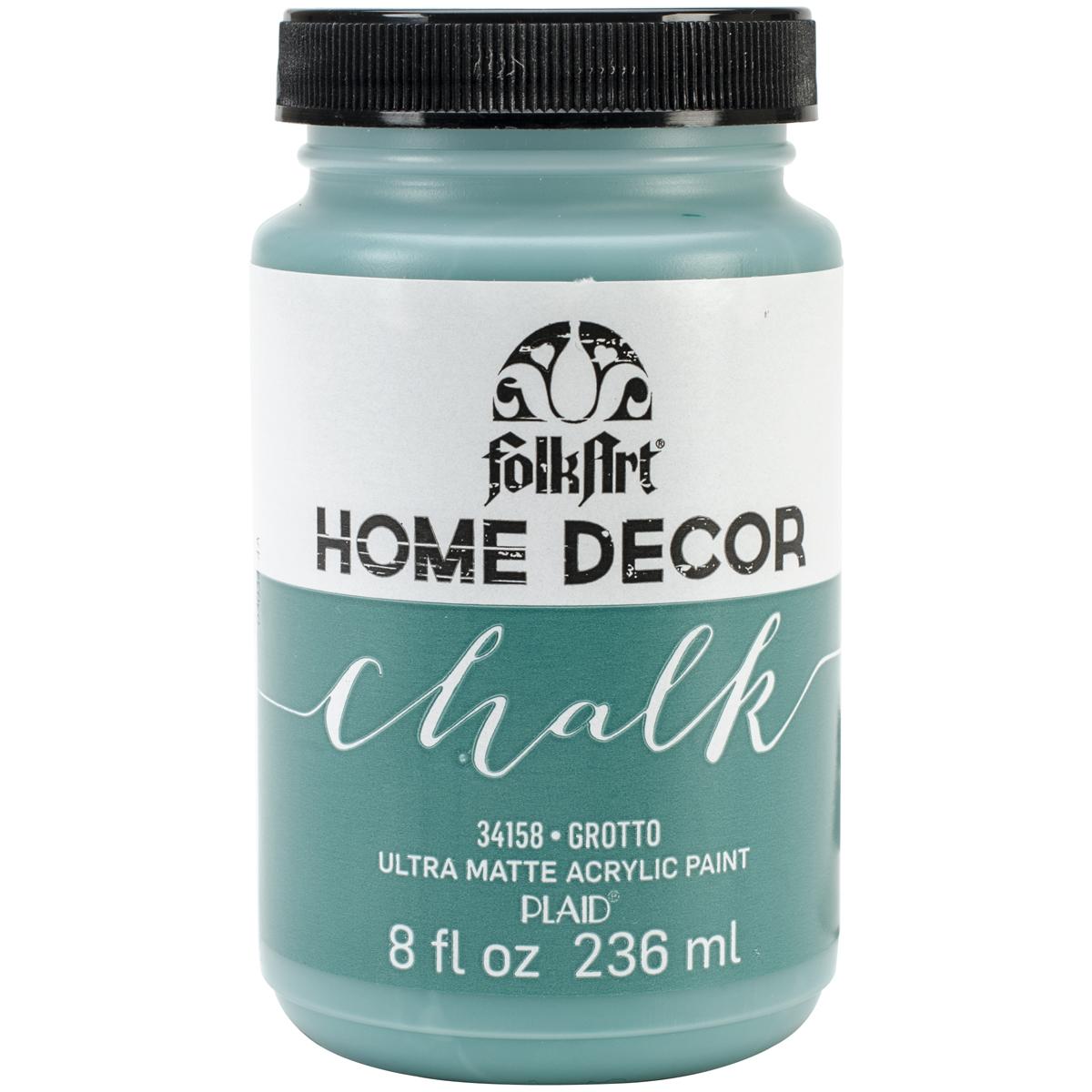 Folkart home decor chalk paint 8oz grotto ebay for Home decor chalk paint
