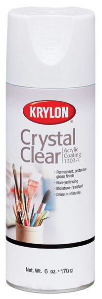 Krylon K01303A07 Crystal Clear Acrylic Coating Aerosol Spray, 6 Ounce