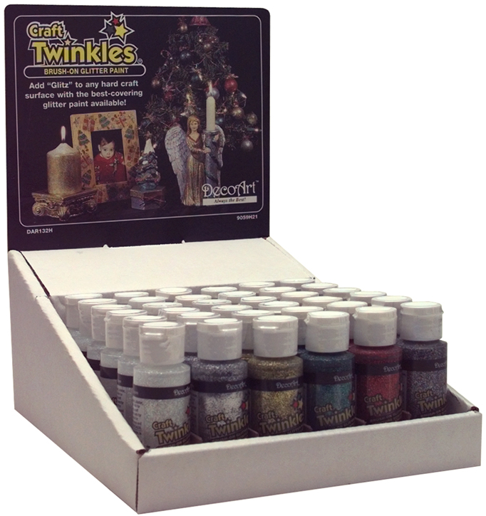 Craft Twinkles Glitter Paint 2oz-Crystal