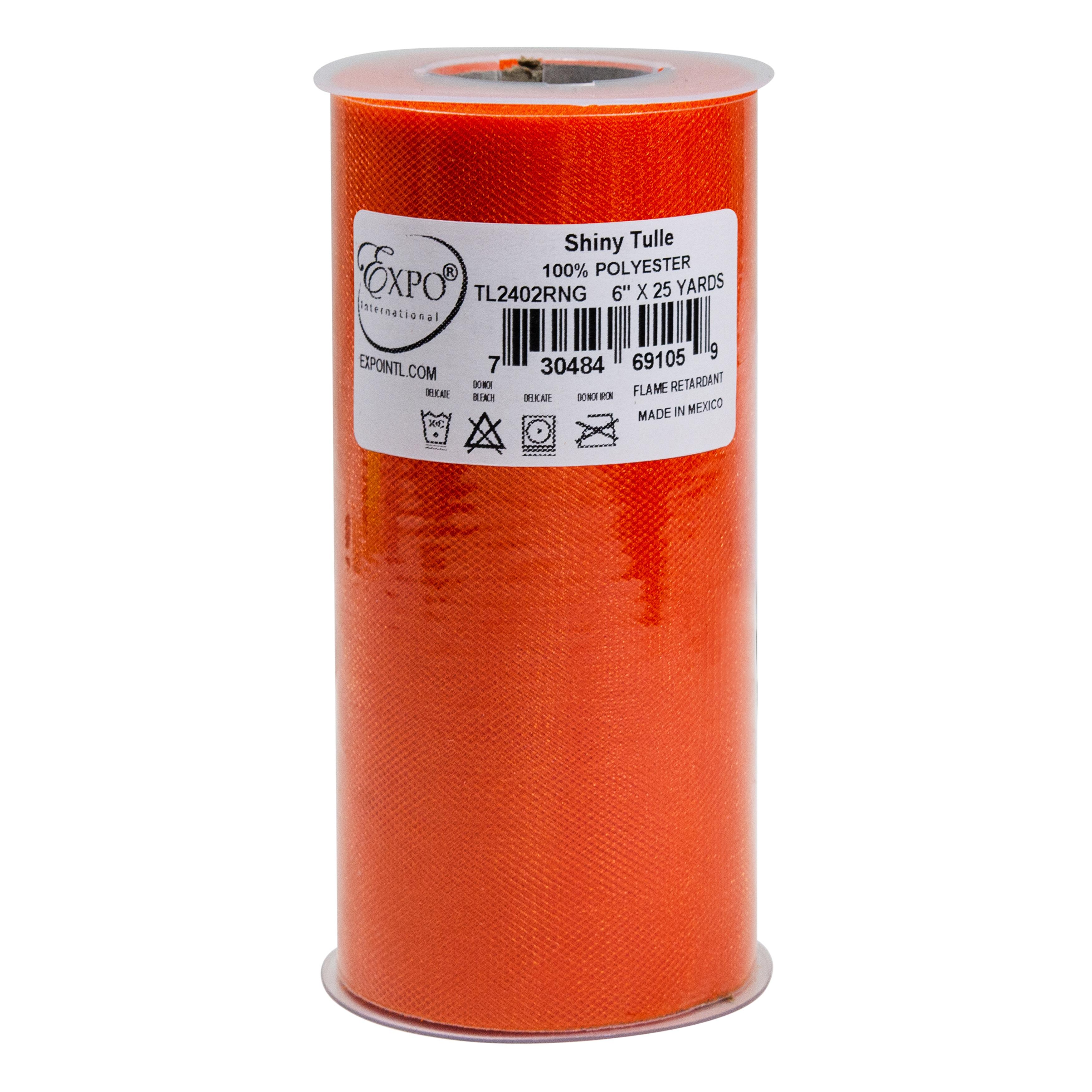 Expo Shiny Tulle Spool of 25-Yard Orange
