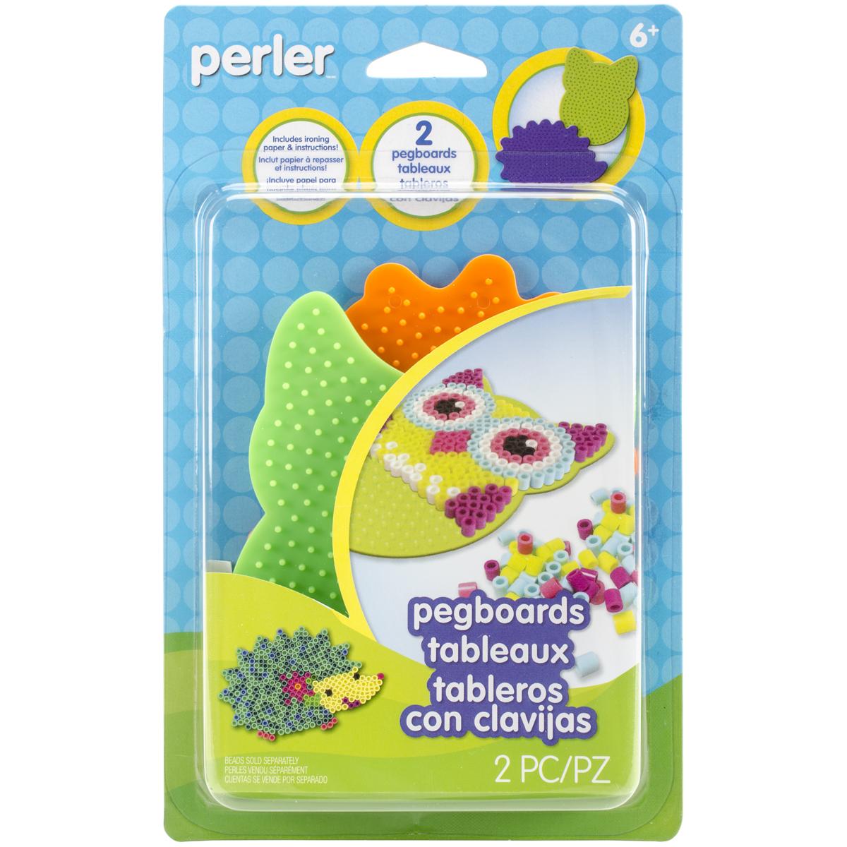 Perler Pegboards 2//Pkg-Owl//Hedgehog 80-26049