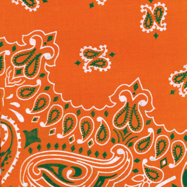 "Hav-A-Hank Paisley Bandanna 22/""X22/""-Orange"