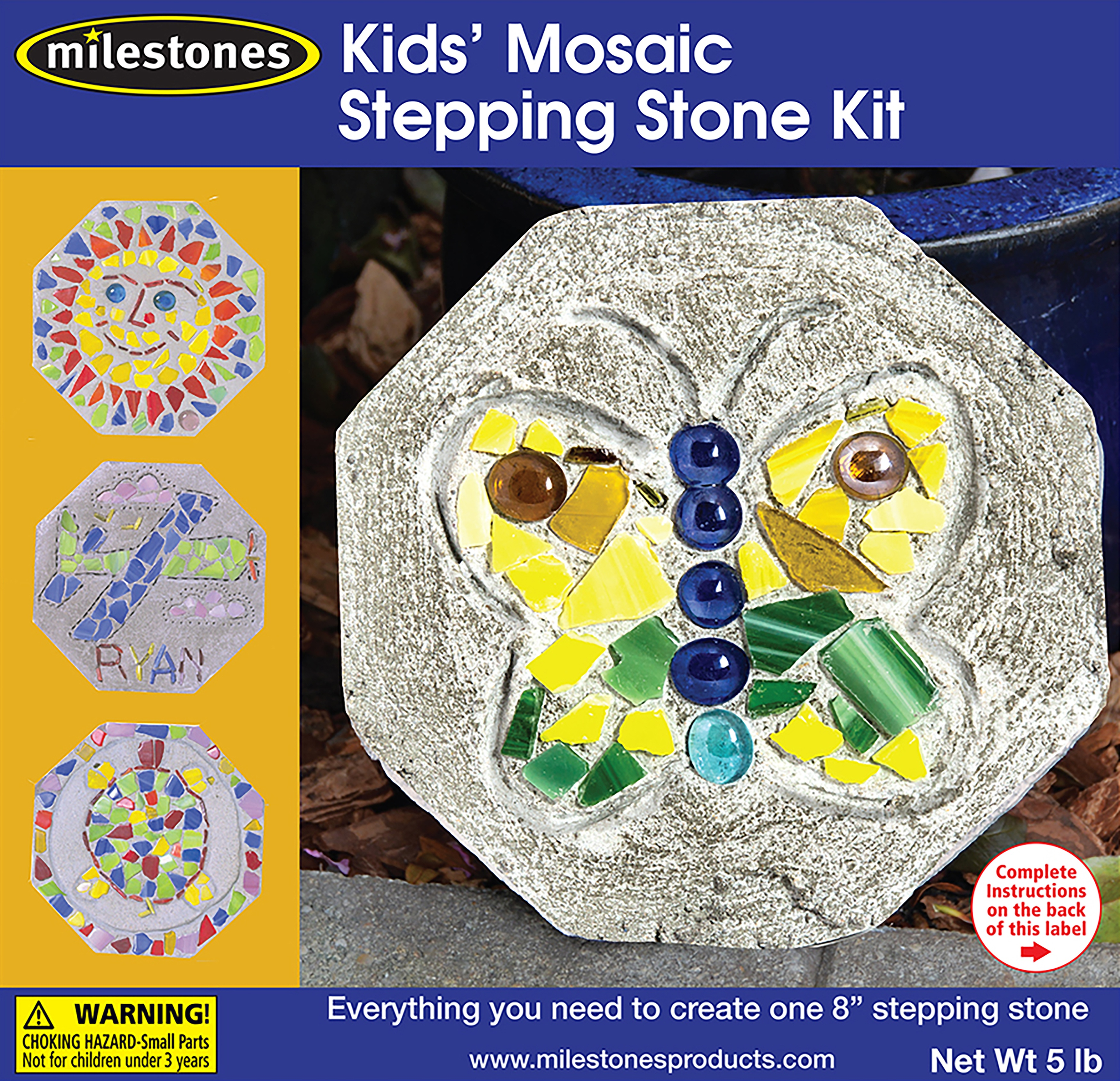 Midwest Products Mosaic Stepping Stone Kit Kids, 20 ...