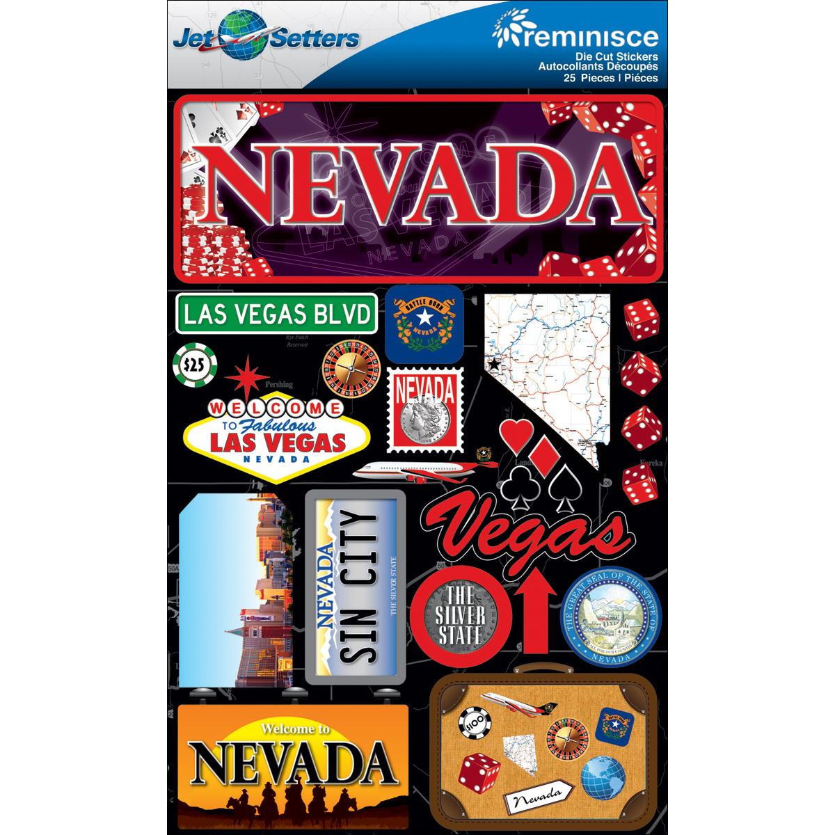 Jet Setters Dimensional Stickers Nevada JST00-27