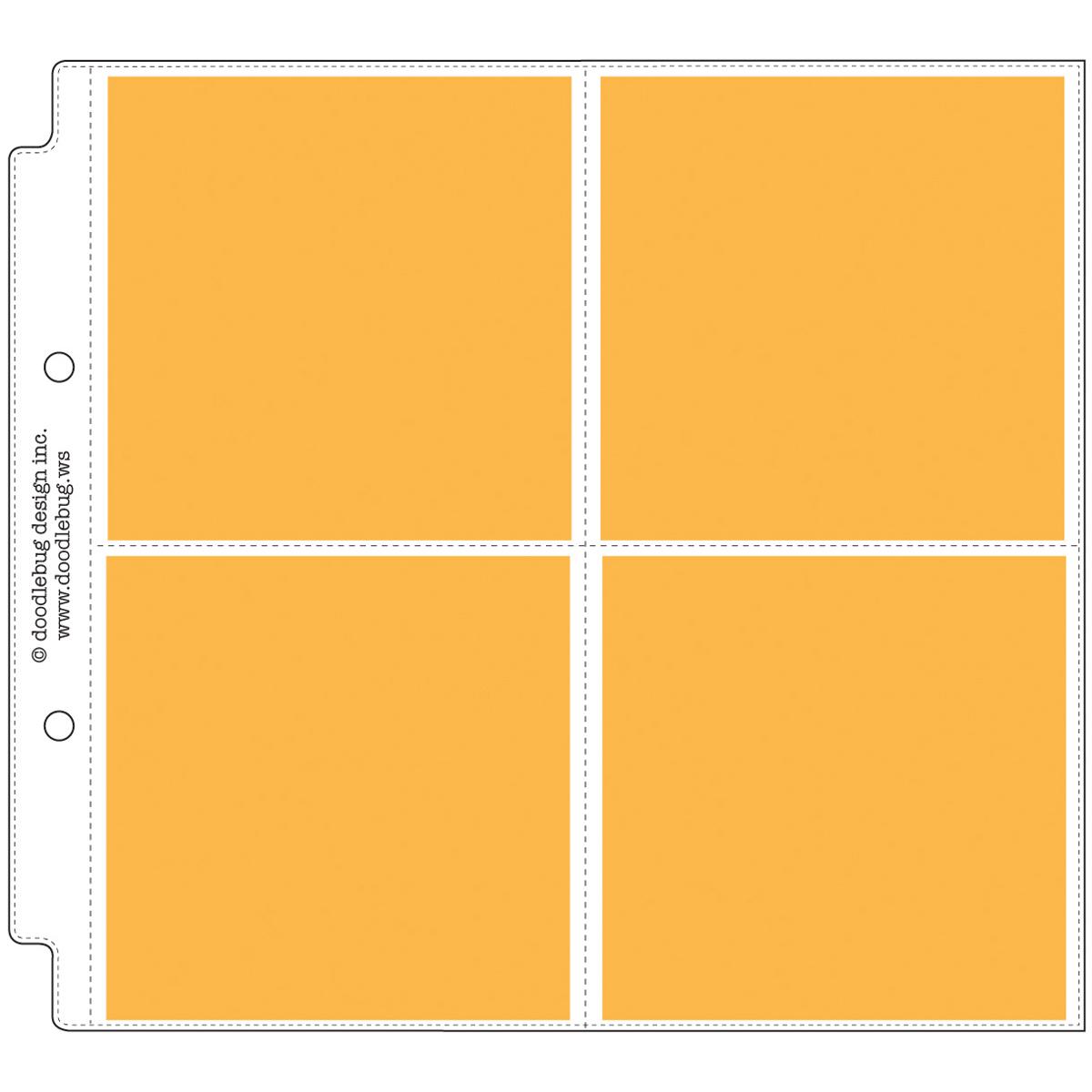 """1 Doodlebug Page Protectors 12/""""X12/"""" 12//Pkg- 12/""""X12/"""" Pocket"""