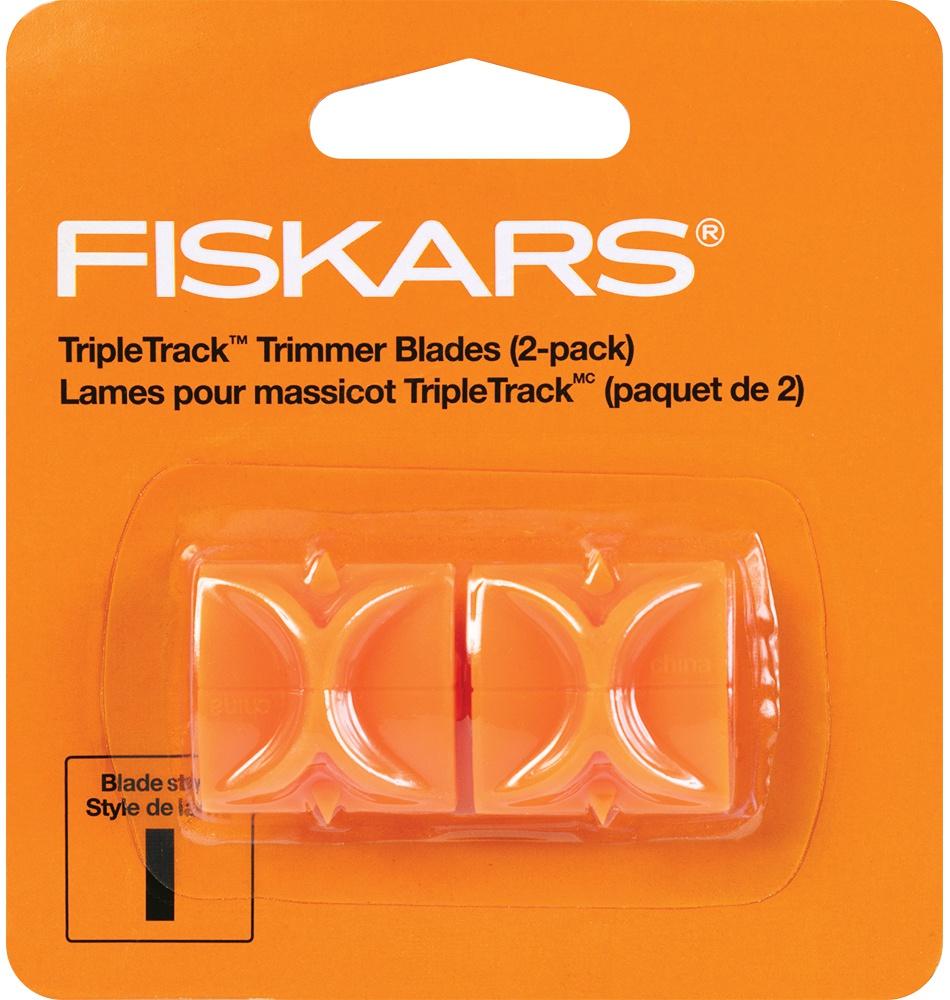 Fiskars Triple Track High-Profile Replacement Blades-Straight 2//Pkg