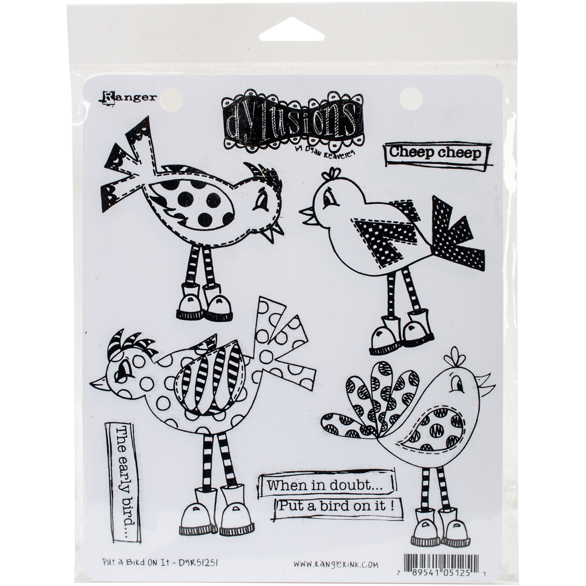 Dyan Reaveleys Dylusions Cling Stamp Collections 8.5X7-Just Breathe