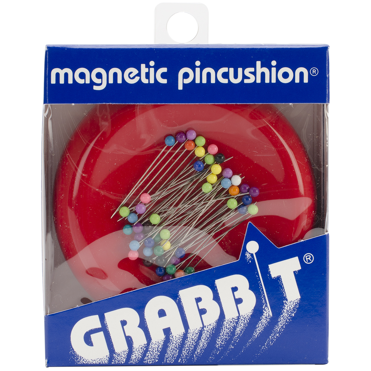 Lavender Grabbit Magnetic Sewing Pincushion with 50 Plastic Head Pins