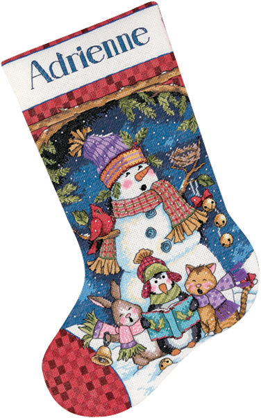 Dimensions Cute Carolers Stocking Counted Cross Stitch Kit: