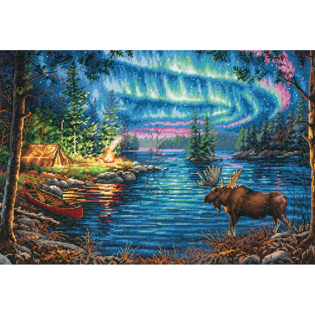 "Gold Collection Northern Night Counted Cross Stitch Kit-16""X"