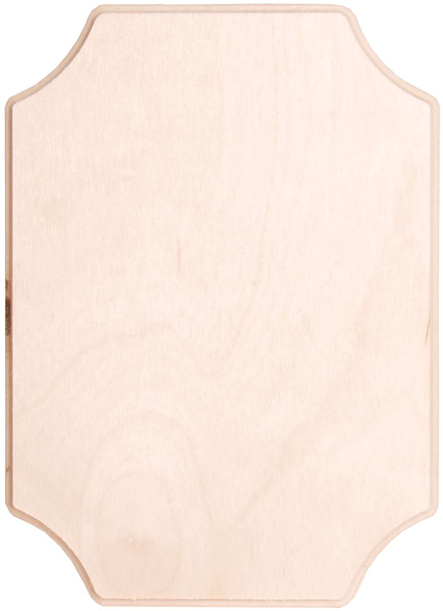 "24622 Baltic Birch French Corner Plaque-5/""X7/""X.38/"""