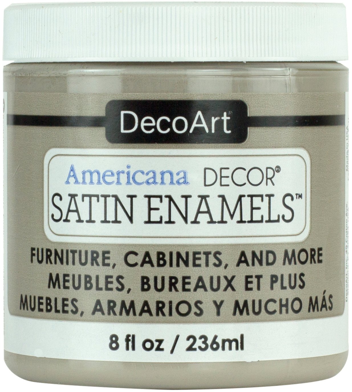Americana Decor Satin Enamels 8oz-Grey Taupe ADSA-19