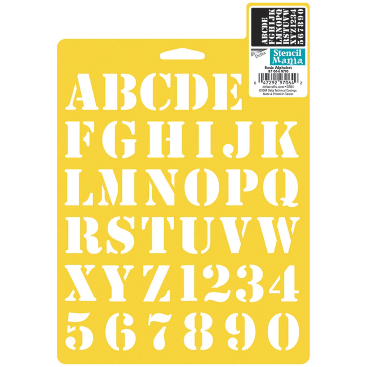 """Art Supplies Other Art Supplies Stencil Mania Stencil 7""""x10""""-basic Alphabet 1"""" Last Style"""