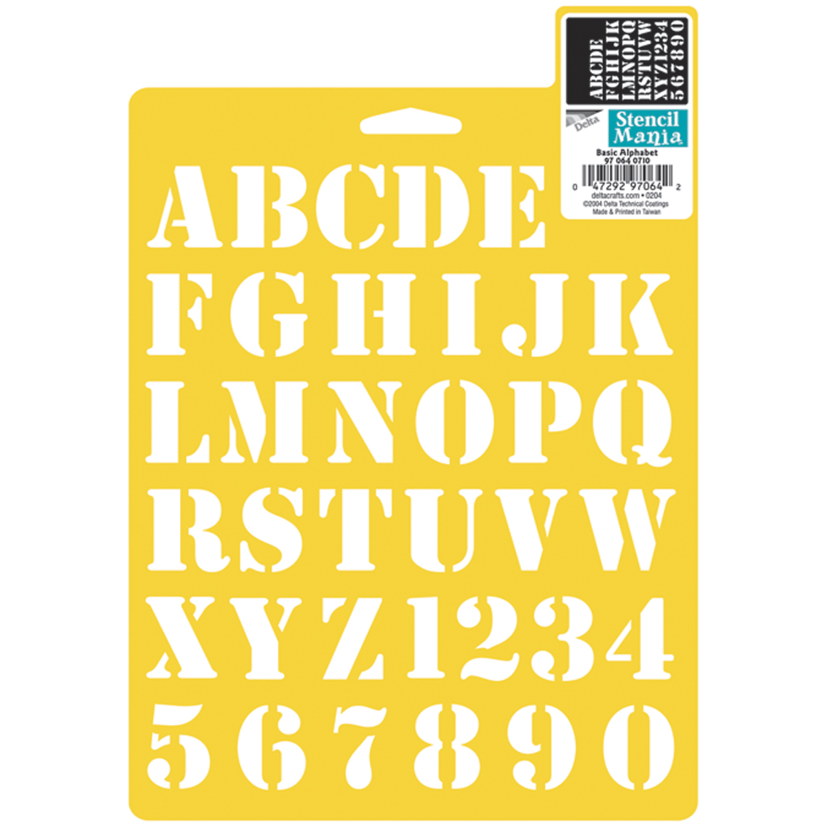 "Crafts Stencil Mania Stencil 7""x10""-basic Alphabet 1"" Last Style"