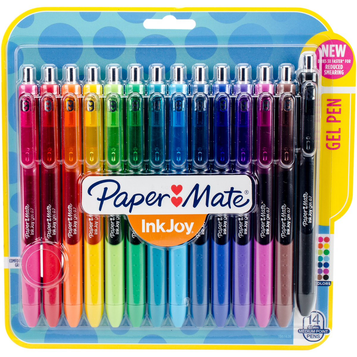 Paper Mate Gel Pens 1951636 | InkJoy Pens Medium Point, Assorted, .7mm, 14 Count